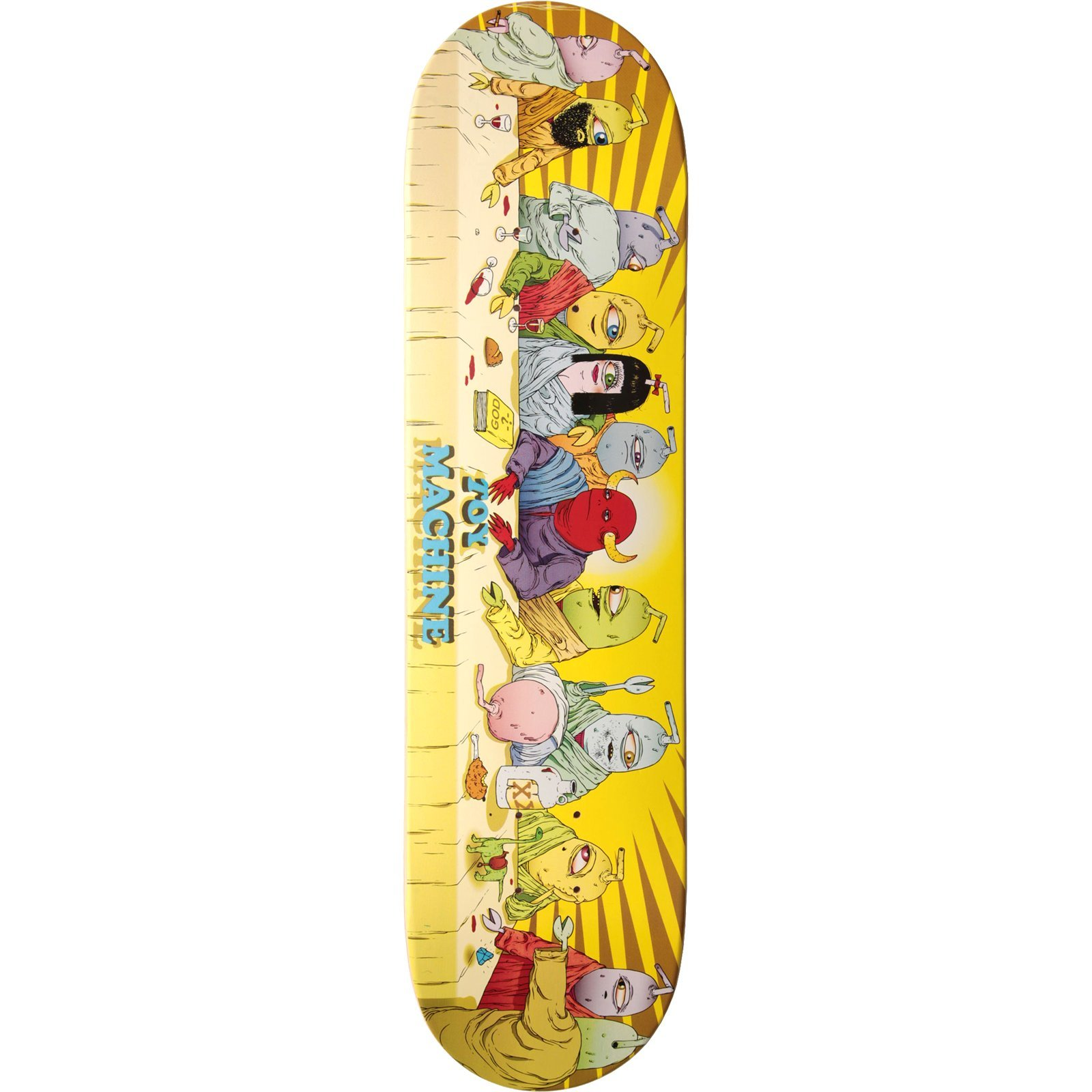 Toy Machine Last Supper Deck -8.0 Assembled as COMPLETE Skateboard