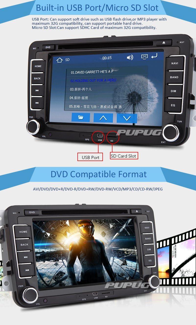 Car DVD CD Player GPS Navigation Stereo Autoradio Radio For Volkswagen VW Jetta Golf Skoda Passat Seat Head Unit+Canbus 7 Inch Touchscreen FM AM iPod ...