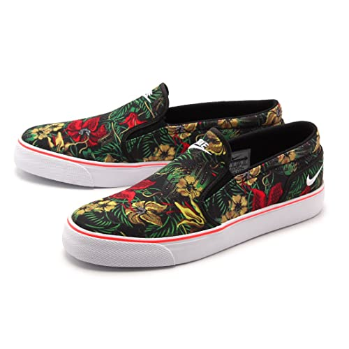 best website 4bcf8 413b0 Nike 2015 Q2 Men Toki Slip TXT Print Floral Fashion Sneaker Shoes Black  724761-617