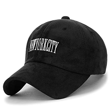 b5f84bac2d6 ililily Newyorkcity Embroidered Baseball Cap Suede Trucker Hat ...