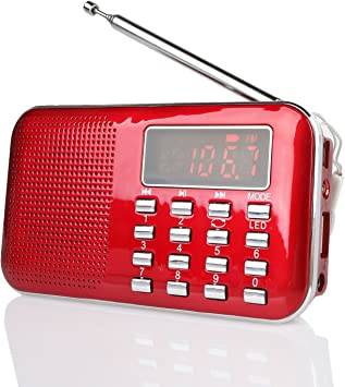 Support USB//TF Card Tilesoroh Portable 21 Bands FM//AM//SW Radio Rechargeable Radio Receiver Speaker MP3 Music Player