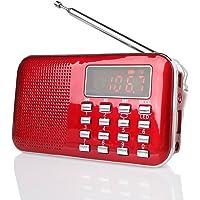 Radioddity RF23 Radio Portable Rechargeable FM/AM(MW)/SW USB Micro-SD et Lecteur Mp3 intégré. (Rouge)