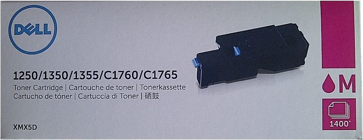 Dell Original High Yield Laser Toner Cartridge for 1250/1250c/1350cn/1350cnw/1355cn/1355cnw/C1760/C1760nw/C1765/C1765nf/C1765nfw/C17XX - Magenta