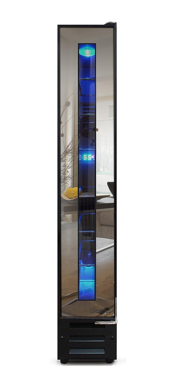Vinotemp VT-7BMSL-FE 7-Bottle Mirrored Refrigerator, Wine Cooler, One size Black