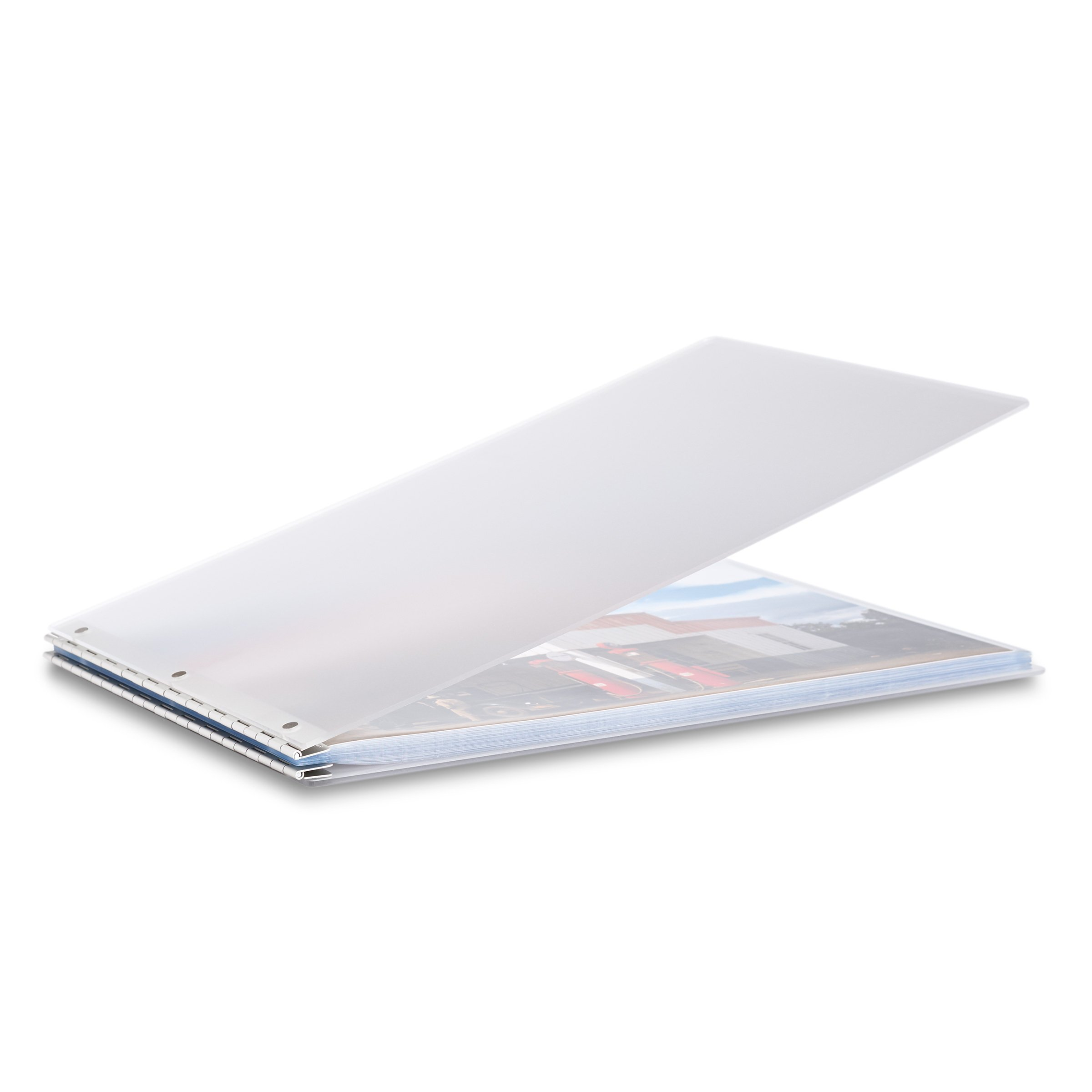 Pina Zangaro Vista 11x17 Landscape Screwpost Binder Mist, Includes 20 Pro-Archive Sheet Protectors (34083)