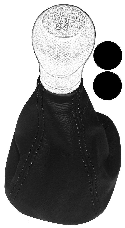 Aerzetix - Soufflet levier de vitesse en 100% CUIR vé ritable avec coutures/surpiqû res noires NIK-LEON1-MSK-BLACKST