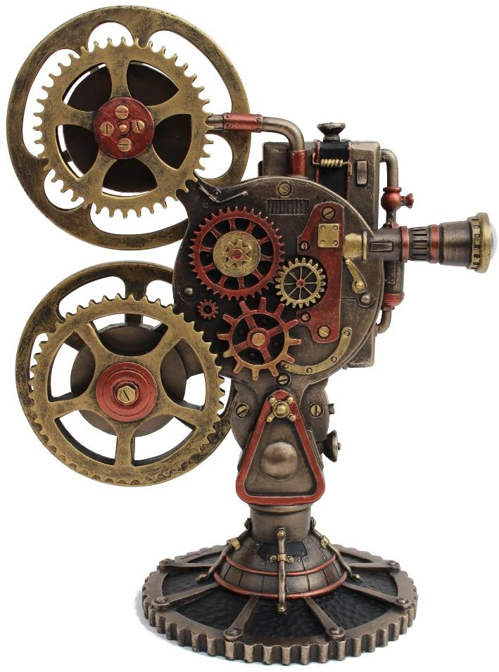 VERONESE Tulsa Mall Steampunk Projector 2021 Statue with LED Bronze Cast Cold