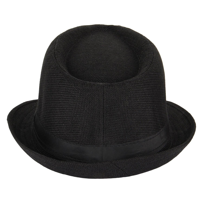 5b87c011a92 Fedora Hats I Stylish Hats I Designer Fedora Hats For Womens I Classic Fedora  hats for Mens(Black)  Amazon.in  Clothing   Accessories