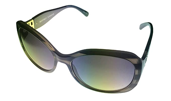 23ffefa829 Image Unavailable. Image not available for. Color  Ellen Tracy Square  Cyrstal Black Plastic Sunglass ...