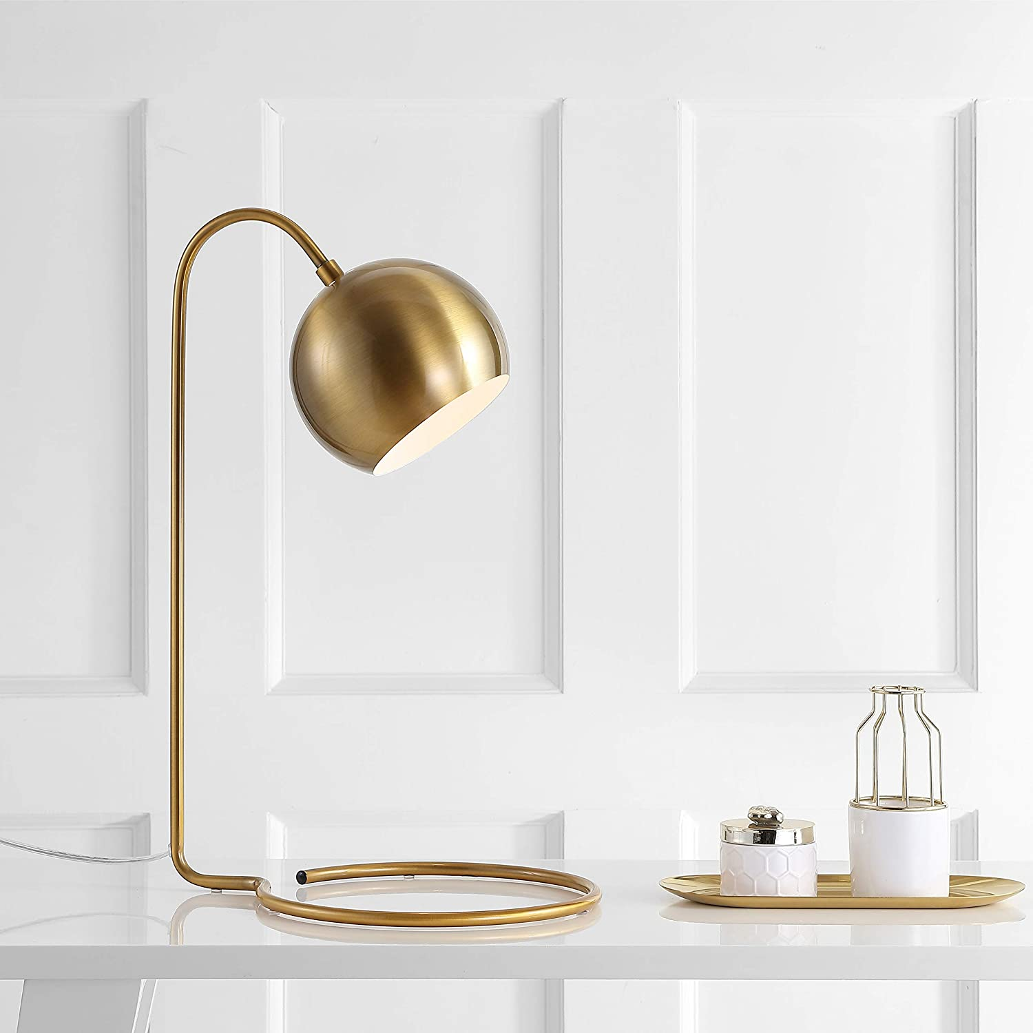 Safavieh Tbl4037a Lighting Collection Bartolo 22 Brass Gold Table Lamp Home Improvement