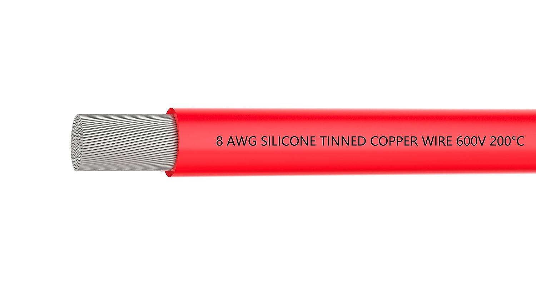 Cable Elé ctrico 18 AWG Cable Alambre de Silicona de Calibre 18 alambre de gancho de [3 m negro y 3 m rojo] - suave y Flexible 150 hilos de alambre de cobre estañ ado alta resistencia a la temperatura CHINA