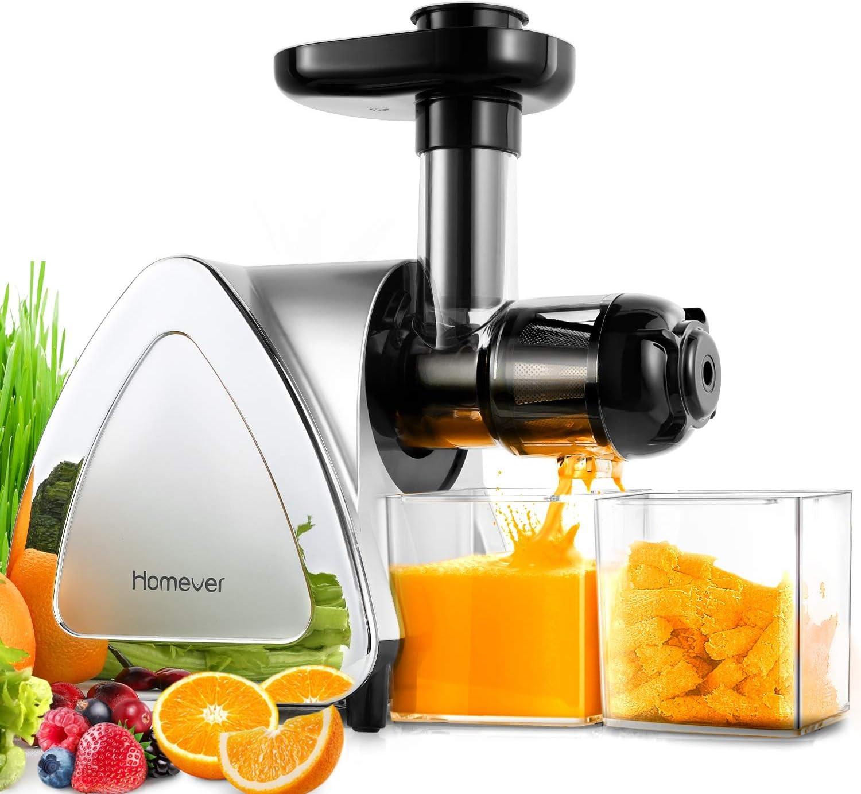 Homever Licuadora Prensado Frio, Licuadora Frutas Verduras Total ...