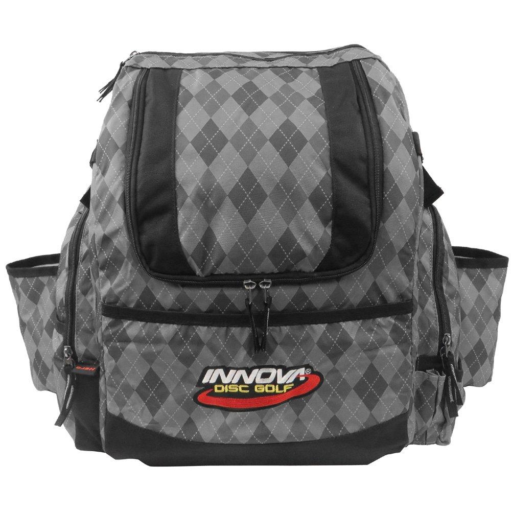 INNOVA HeroPack Backpack Disc Golf Bag (Gray Argyle) by INNOVA