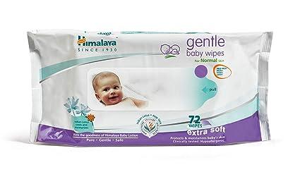 Himalaya Herbal cuidado suave bebé Toallitas 72 con Loción Desmaquilla & Hidrata