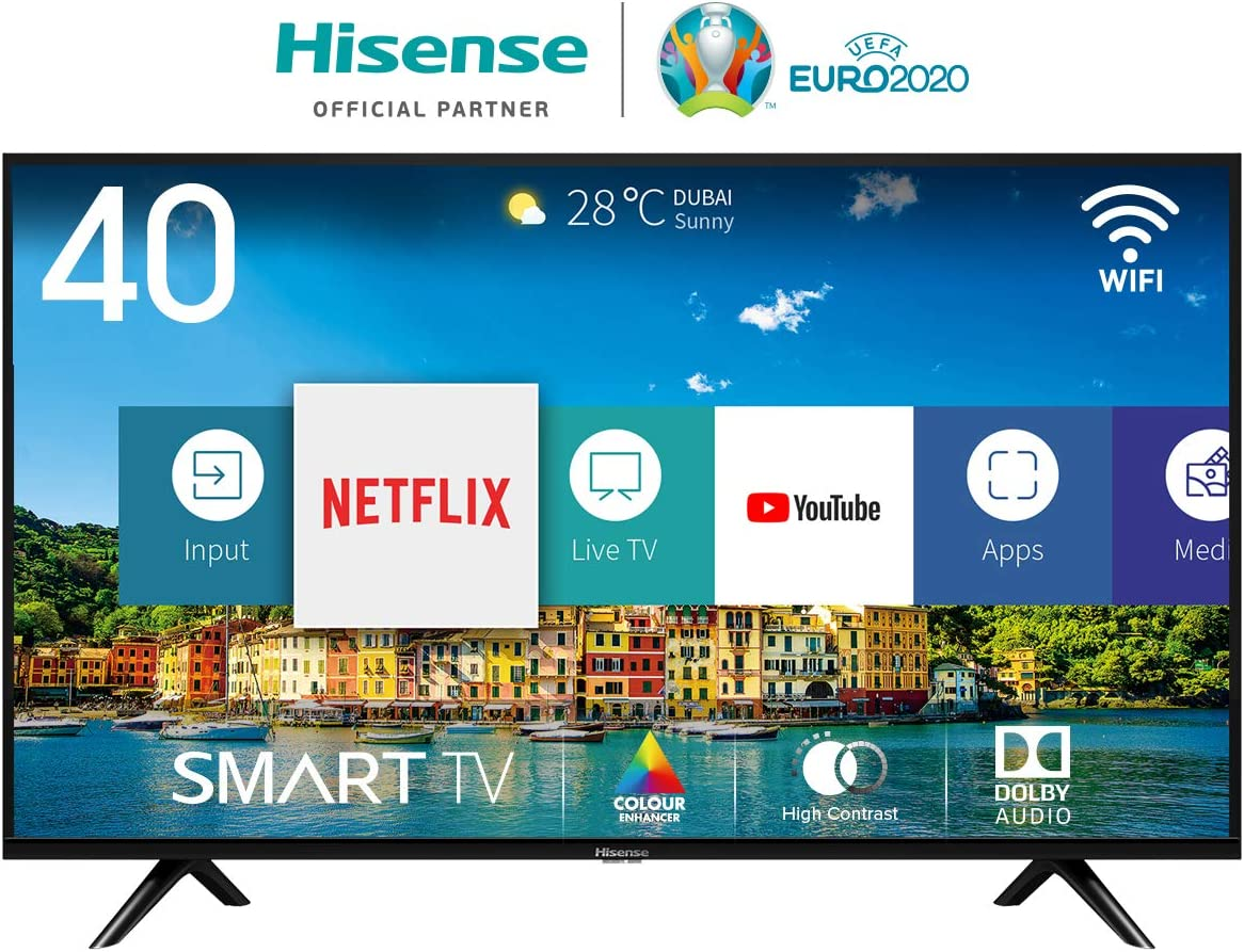Hisense H40BE5500, Smart TV Full HD, 2 HDMI, 2 USB, Salida Óptica ...
