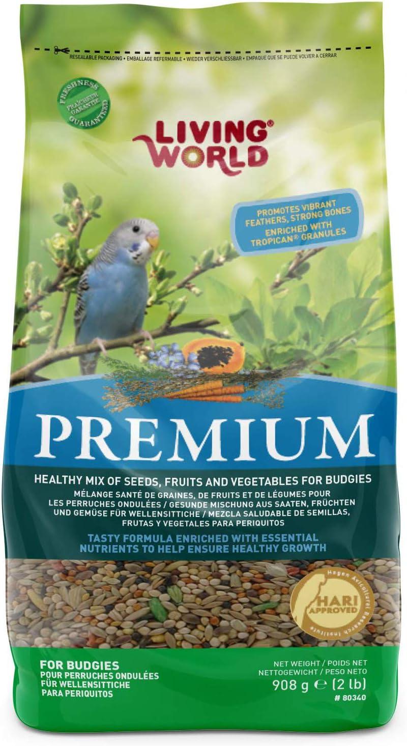 Living World Premium Parakeet/Budgie Mix, 2 Pounds