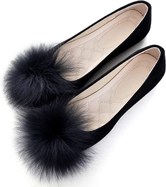 Pom Poms Lovely Flats Shoes Outdoors
