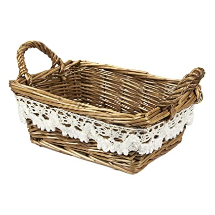 Amazon.com: Juvale Wicker Basket - Woven Fruit Basket, Storage ...