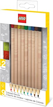 LEGO - Pack de 9 lápices de colores nº2 con toppers (51515 ...