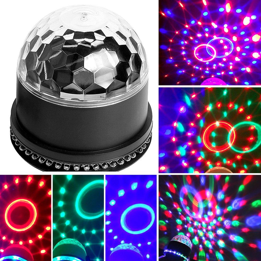 weinas Mini Magische Licht-Bü hne Kugel schwenkbar Sprachsteuerung/Automatische ideal fü r DJ, KTV, Disco, Disco, Party, Hochzeit