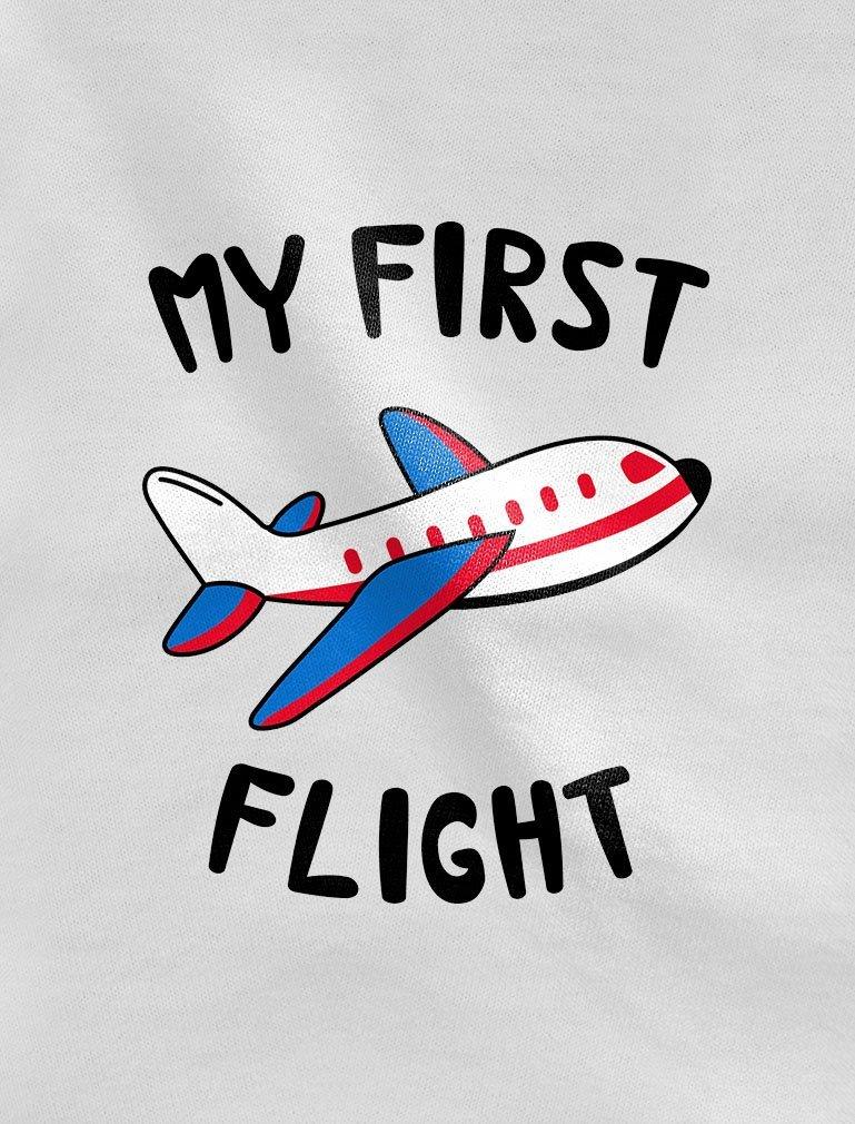 Tstars My First Flight Funny Vacation Holiday Baby Boy/Girl Baby Long Sleeve Bodysuit