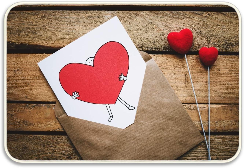 Amazon Com Niaocpwy Outdoor Doormat Postcard Heart Love Envelope Family Doormats Non Slip Doormat Non Fabric Floor Mat Indoor Entrance Rug Decor Mat Garden Outdoor