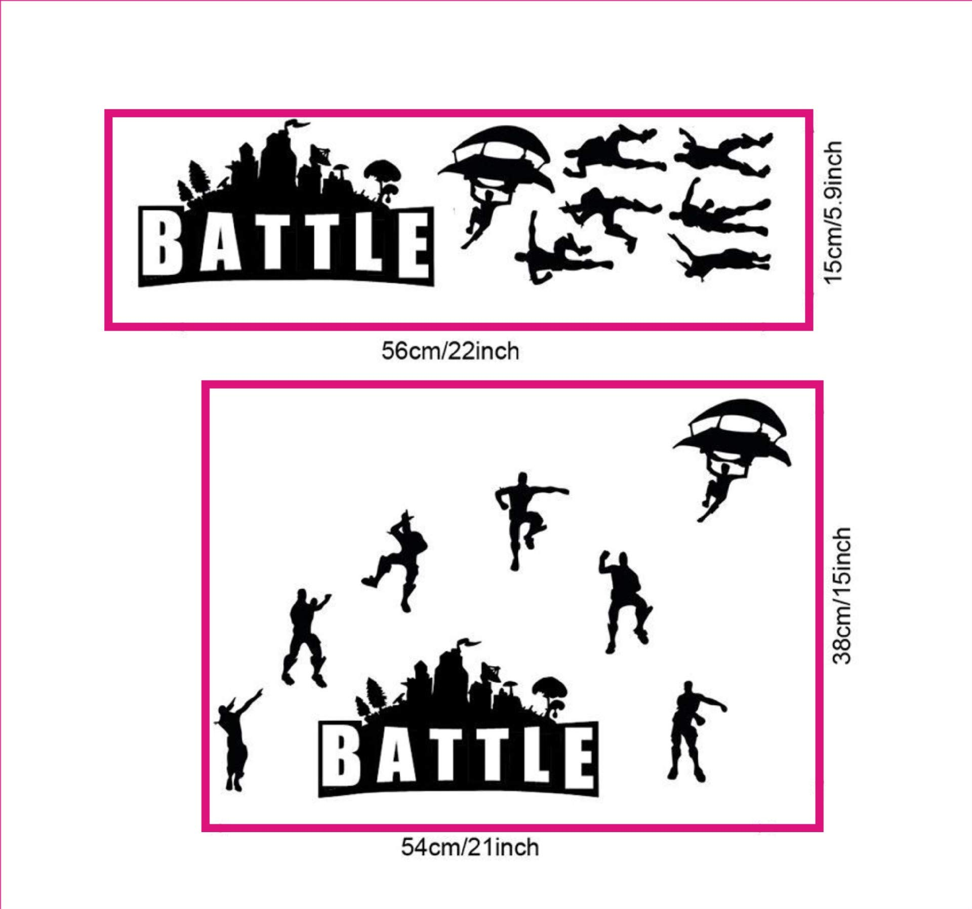 ELion Fortnite Wall Decor Peel & Stick Poster Decals 21x15 Inch by ELion (Image #1)