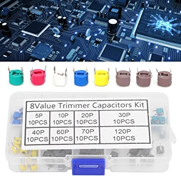 Durable 80Pcs Adjustable Electronic Capacitor Trimmer Capacitor For Electronic