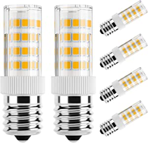 DiCUNO E17 LED Bulb,Appliance Bulbs, Microwave Oven, Stovetop Light, 4W 400lm, Warm White 3000k, Non-dimmable 40w Equivalent Replacement Incandescent Bulb, 6-Pack.
