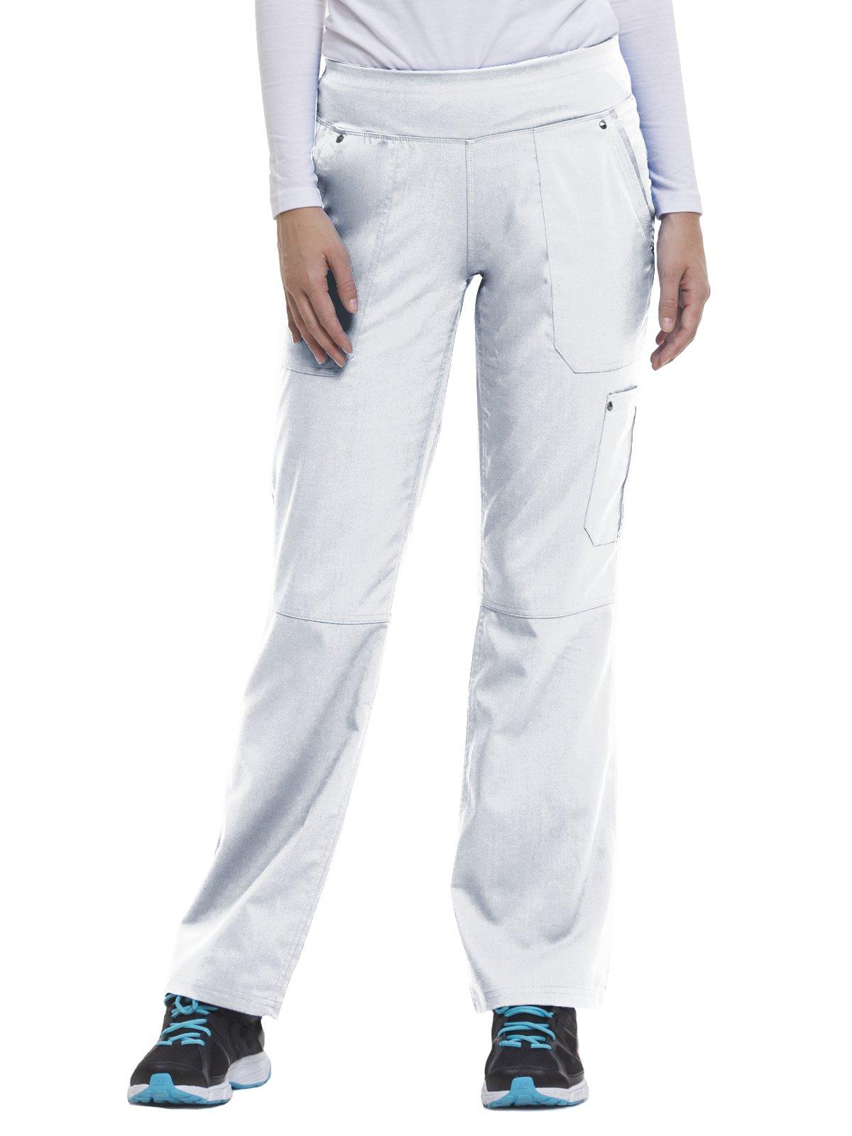 Purple Label by Healing Hands Scrubs Women's Tori 9133 5 Pocket Knit Waist Pant White- 4X-Large