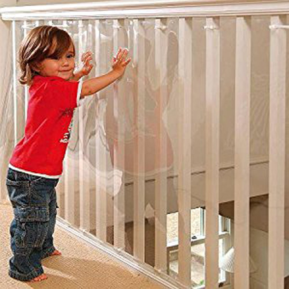 Kidkusion Indoor/Outdoor Banister Guard, Clear, 15' by KidKusion