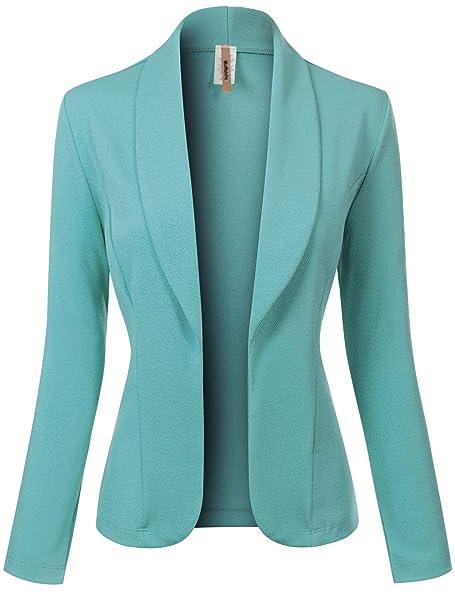 Amazon.com: MixMatchy - Blazer para mujer con estampado liso ...