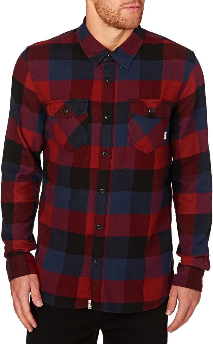 Vans M Box Flannel, Chemise Homme, Rouge (Red Dhalia/Black ...