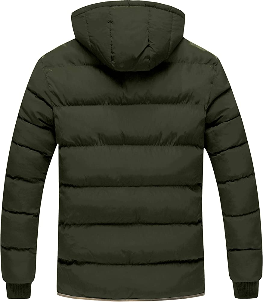 Beloved Mens Winter Thicken Warm Hooded Jacket Casual Jacket Down Coats Outwear