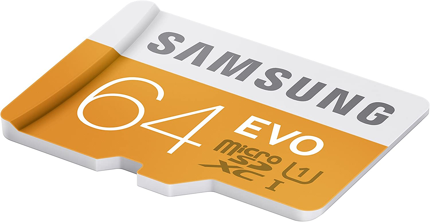 Samsung EVO 64GB 48/MB/s Micro SDXC Memory Card with Adapter up to (MB-MP64DA/AM)