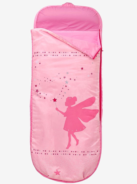 Vertbaudet Kinderschlafsack mit Luftmatratze Fee rosa bedruckt fee 0