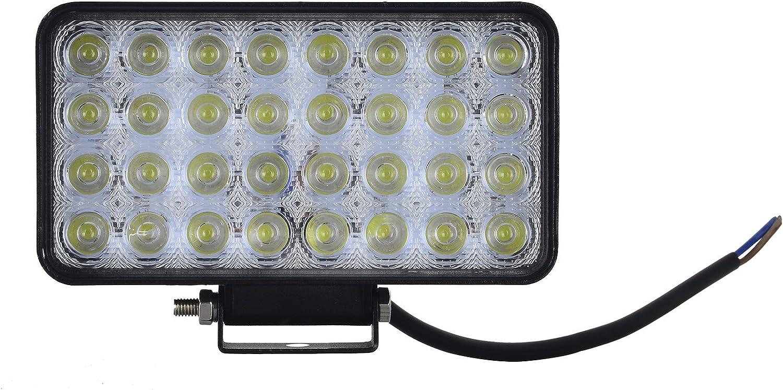 Focos de Coche LED Potentes, Resistente al agua IP67, Led Foco Lampara de coche Faros de trabajo led Luces diurna Luz de la luz de los faros de campo a traves de SUV UTV ATV faros (CW-96W)