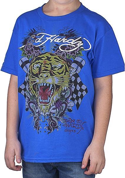 Ed Hardy Big Boys Abierto Boca Tigre Camiseta