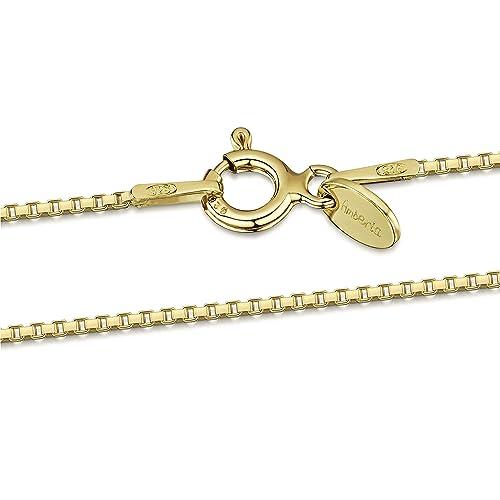 71f99884434f Amberta® Joyería - Collar - Fina Plata De Ley 925-18K Chapado en Oro ...
