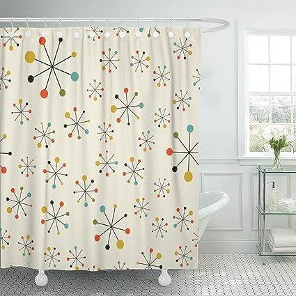 Amazon Emvency Shower Curtain Modern Mid Century Absctract