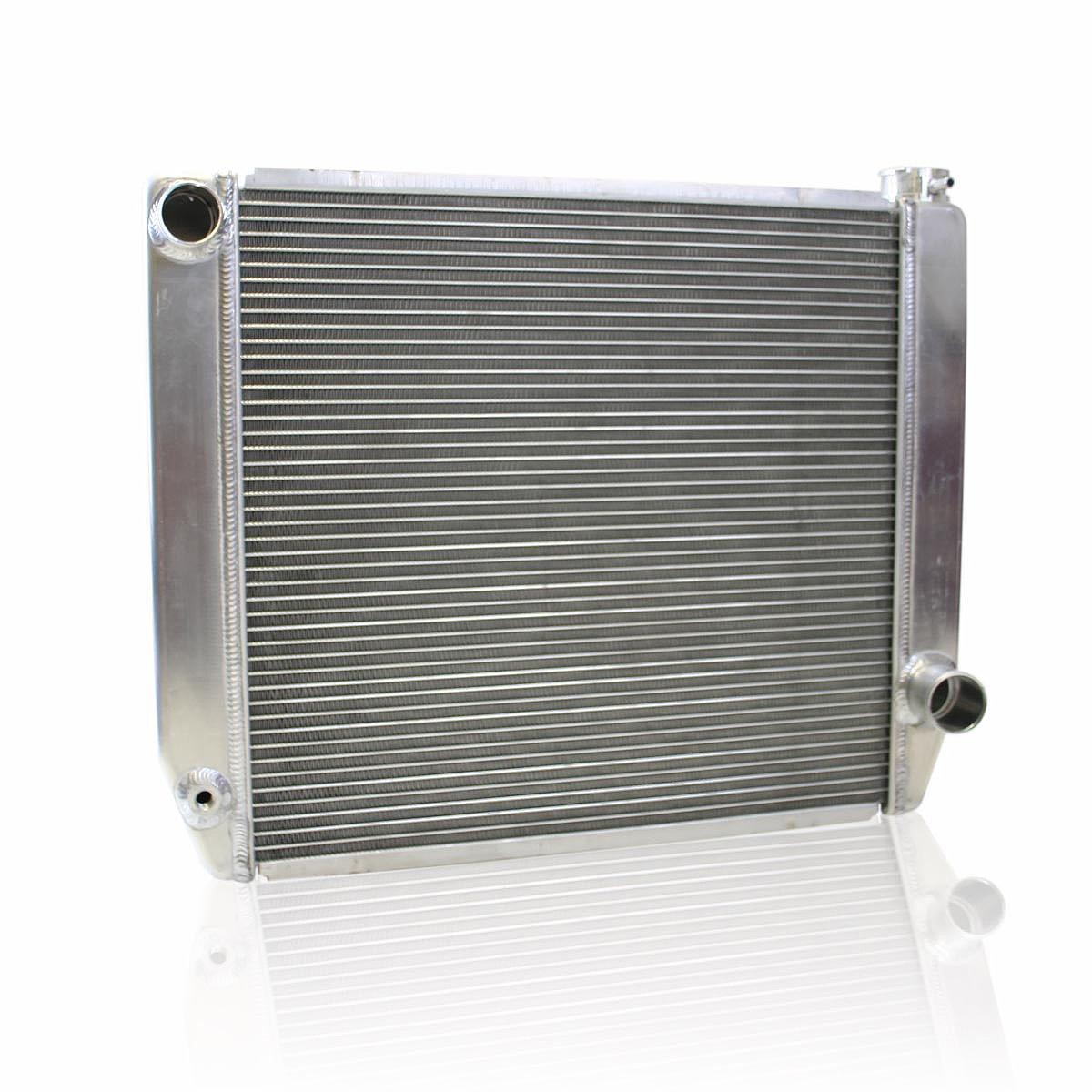 Griffin Radiator  1-25202-XS ClassicCool 24'' x 19'' 2-Row Universal Fit Cross Flow Radiator with 1'' Tube