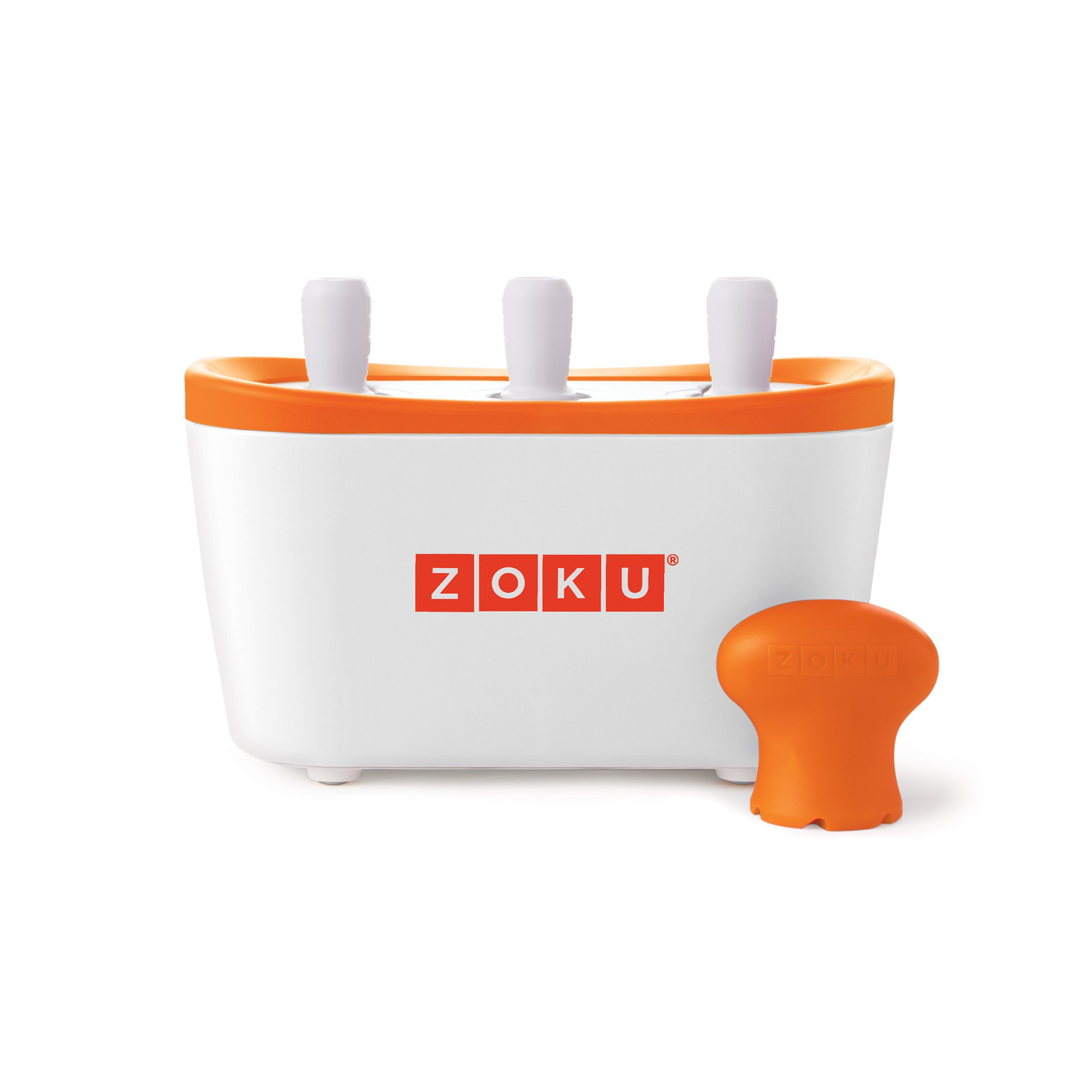 Zoku Quick Pop Maker, Make Popsicles in as Little as 7 Minutes on your Countertop, White by Zoku