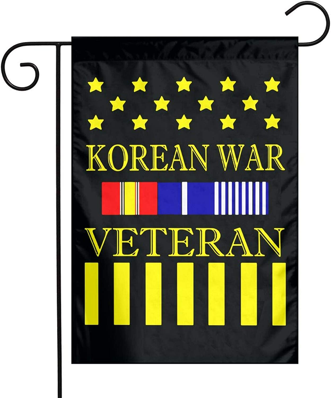 POYOMUK Korean War Veteran Veterans Day Yard Outdoor Decor Winter Double-Sided Garden Flag Garden 12x18 Inch