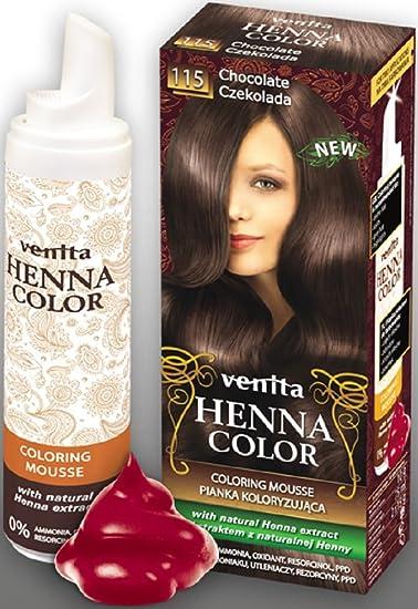 Venita Henna color Coloring Mousse mcoloration vitrina Service Paquete de chocolate (Chocolate) nº 115