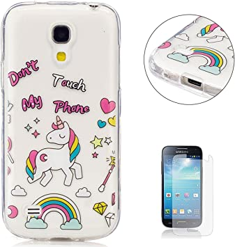 KaseHom Compatible For Funda Samsung Galaxy S4 Mini i9190 Prima Transparente Cáscara Cristal Claro Slicona Choque Absorción Protección Caja Suave Flexible TPU Parachoques Gel Estuche: Amazon.es: Electrónica
