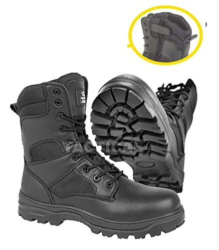 Safety boots with side zip/ combat military security boots steel toe (6)