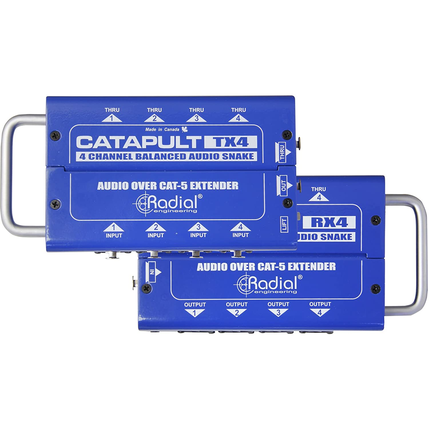 Radial Catapult TX4 Cat 5 Analog Snake Transmitter with 4 XLR-F Inputs Radial Engineering 4334434584