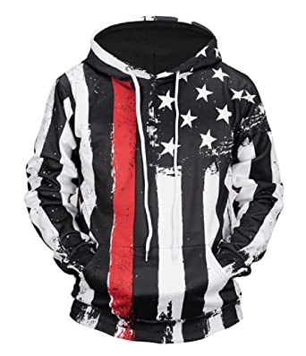 a8b0dd5cff1f RDHOPE-Men American Flag Relaxed-Fit Tracksuit Top with Strings at Amazon  Men s Clothing store