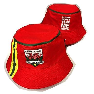 3fccffd1f7bfb Wales Spirit of 2016 Yellow Stripe Beach Bucket Hat  wa172   Amazon.co.uk   Clothing