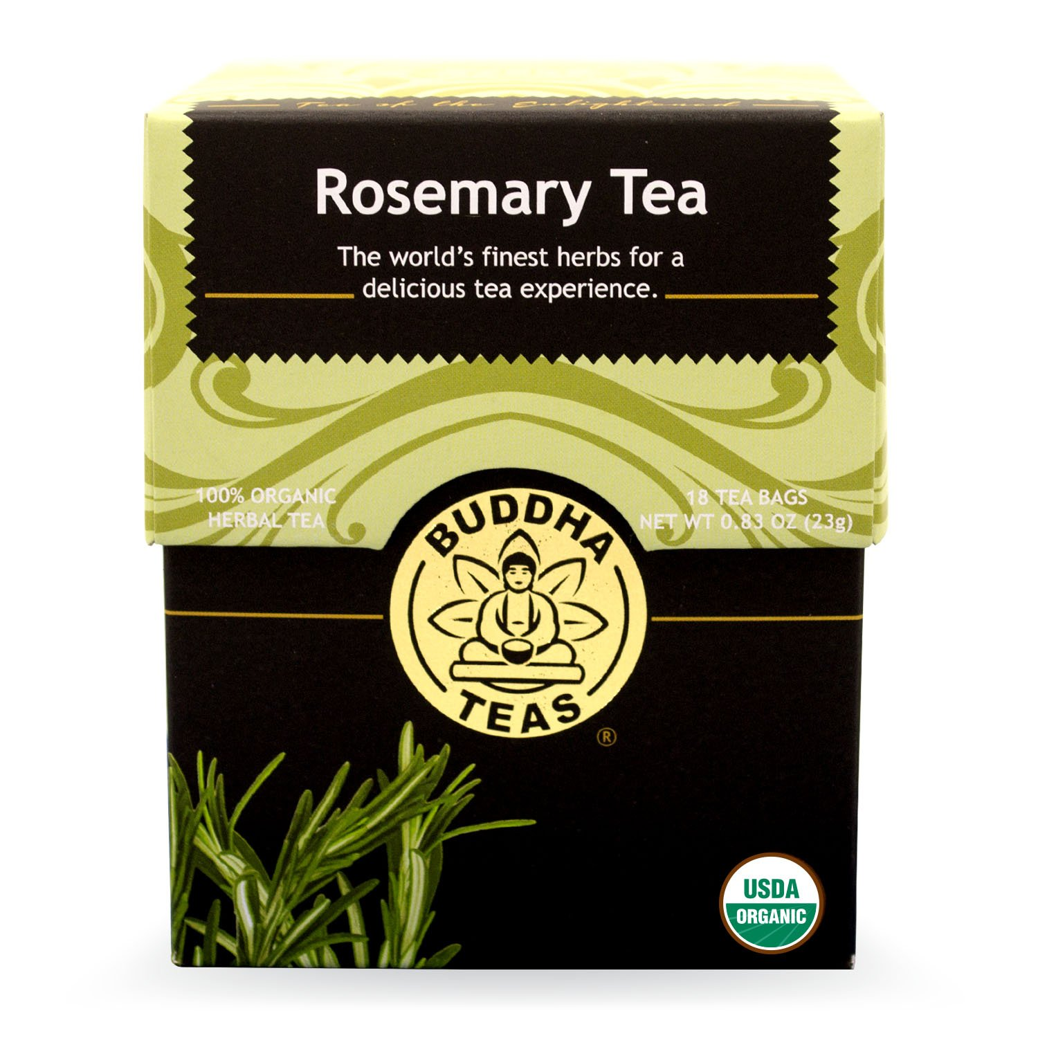Buddha Teas Rosemary Tea, 18 Count (Pack of 6)
